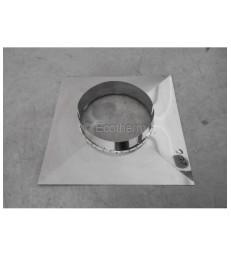MP D200 - Plaque fermeture cheminée - Inox - 400x400mm