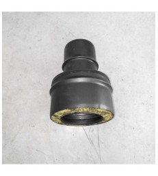 DP150 - Raccord simple-double paroi inox noir