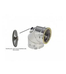 DP D150 : Coude 90° inox - Bouchon d'inspection haute température