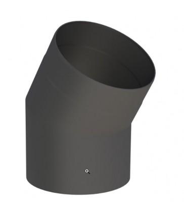 D150 noir : Coude 15° sans Porte - Poêles